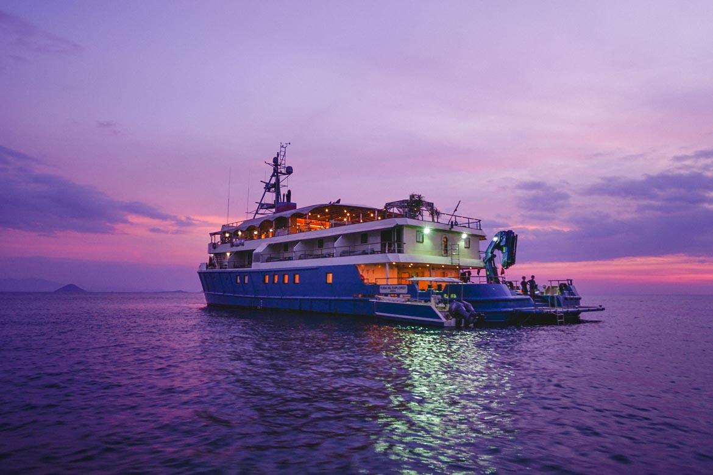 Kudanil Explorer sunset safety luxury yacht